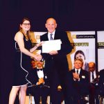 Tom presenting the Evidence Award to Jasmine France at the Curtin Law School Award Giving Ceremony in April 2019