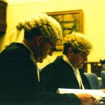 Tom Percy QC and Jon Davies during the hearing of Button v R, Supreme Court of WA (2002) 25 WAR 382