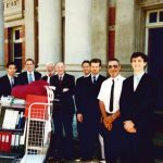 Tom Percy QC with legal team including Adam Rowe, Nick Mullaney and Anthony Papamatheos following the hearing of Easterday v R (2003) 143 A Crim R 154 in December 2002
